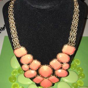 Cabochon statement necklace